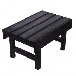 Saunan nousujakkara Basic 400x700x400 (stout), nousujakkara viistossa.